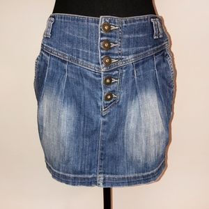 PULL&BEAR mini jeans skirt, Size S
